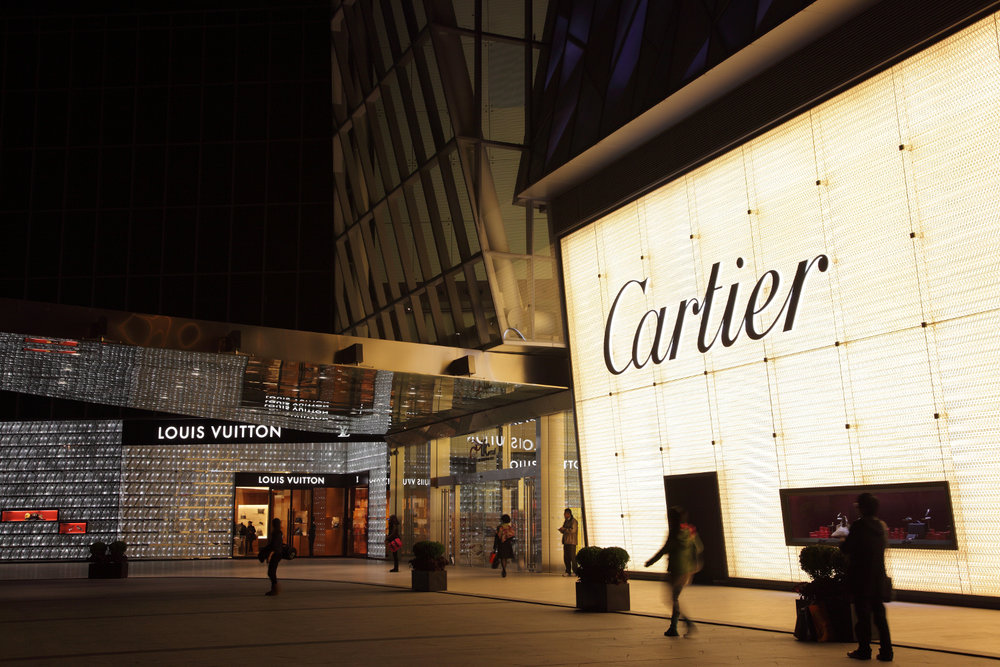Luxury shops at the IFC Shopping Mall in Pudong, China. (Photo: Shutterstock)