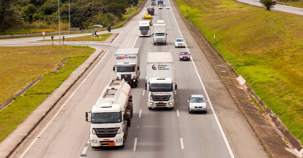 Trucks travel the BR-374 highway in Brazil. CargoX is working to connect trucks with available capacity to shippers with goods to move. ( Photo: Shutterstock )