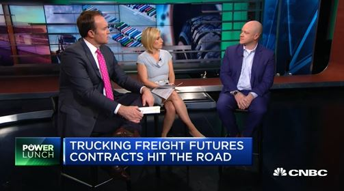TransRIsk CEO Craig Fuller, right, went on CNBC in late October to discuss the company's plan on launch freight futures contracts