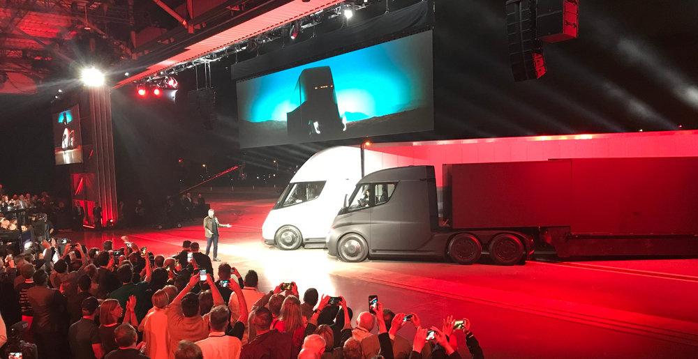 The Tesla Semi is capable of up to 500 miles on a single charge and can be recharged for 400 miles of range in 30 minutes.