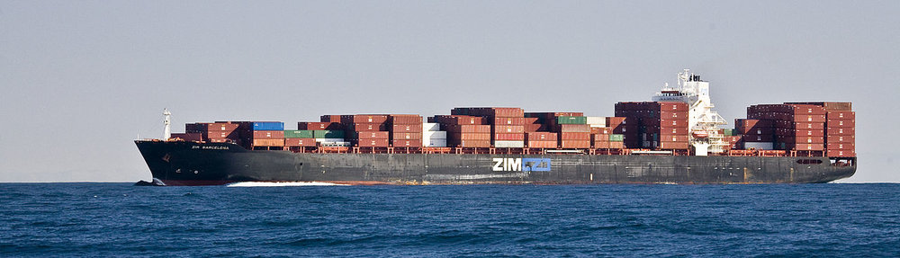 The ZIM Barcelona, pictured off the coast of California in 2008.