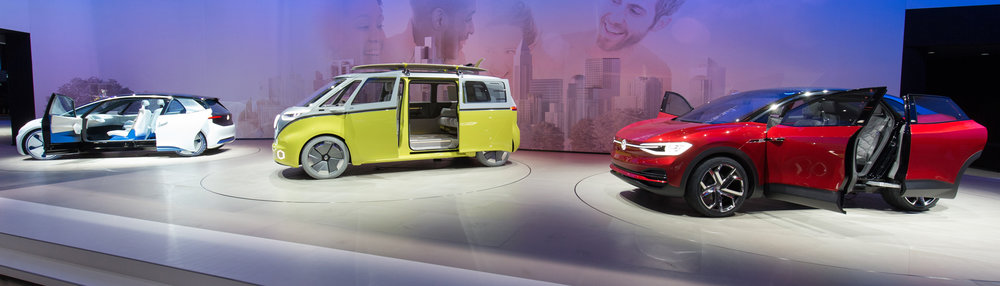Electric vehicle prototypes were recently shown by Volkswagen.