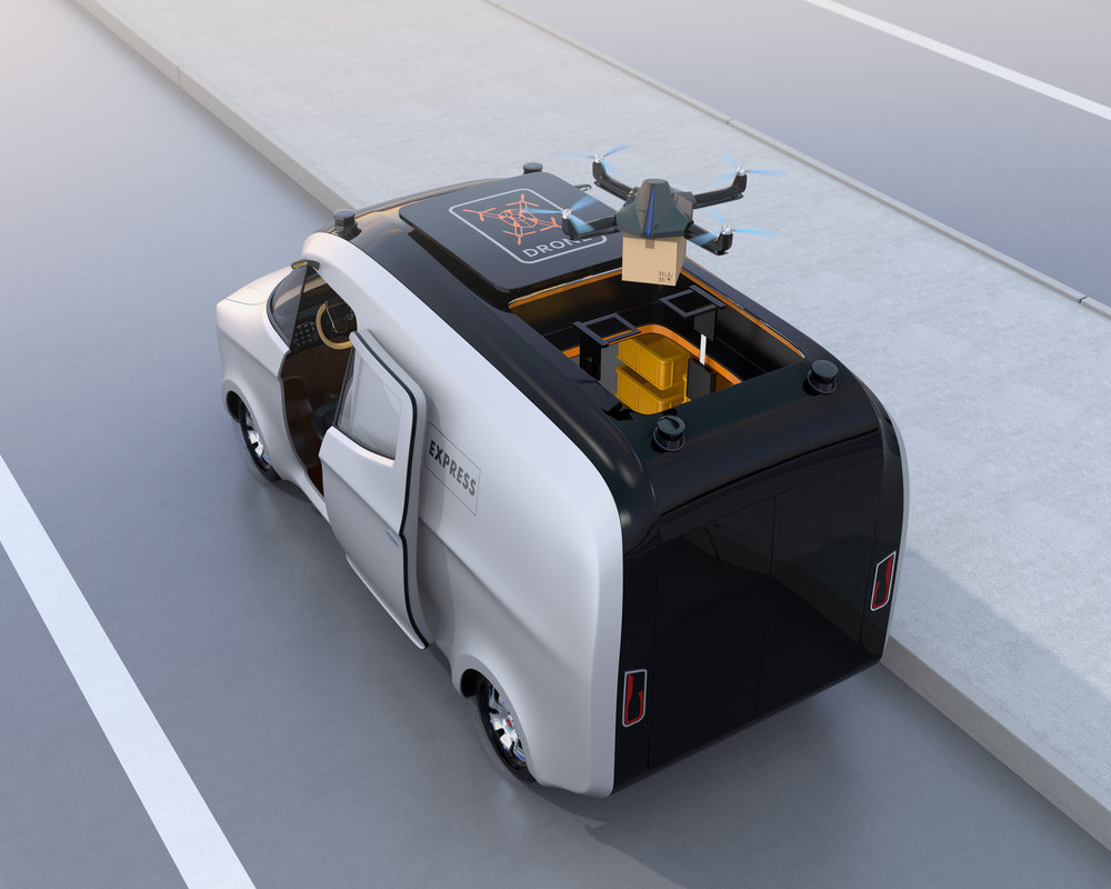 "One of the questions many ask as the electric and autonomous vehicles are introduced to market is: What happens with the ""last mile"" delivery? It can be the most expensive leg of deliveries.  (PHoto: shutterstock)"