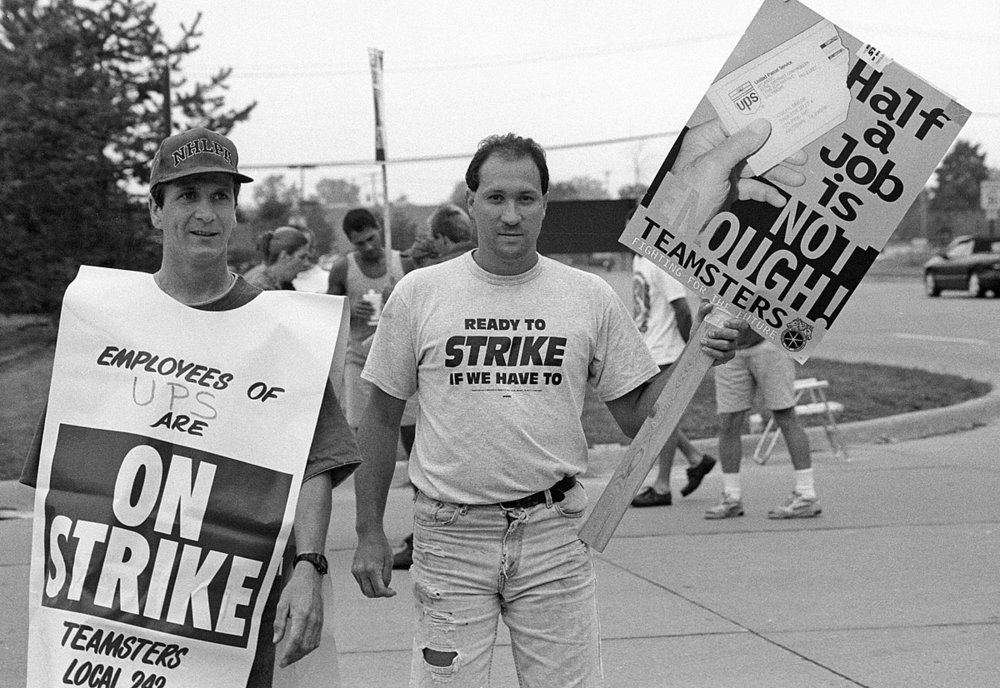 the international brotherhood of teamsters strike against the united parcel service in 1997 He continued in a leadership role with the formation of the international brotherhood of teamsters teamsters on strike against united parcel service.