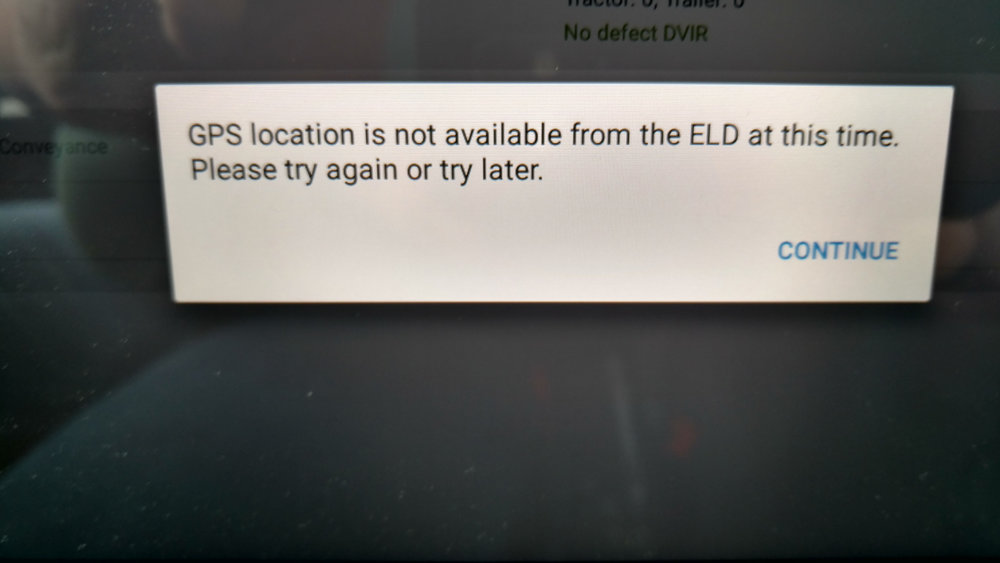 Paul Bazydlo says this is the message he receives every time he turned on his ELD and tried to connect.