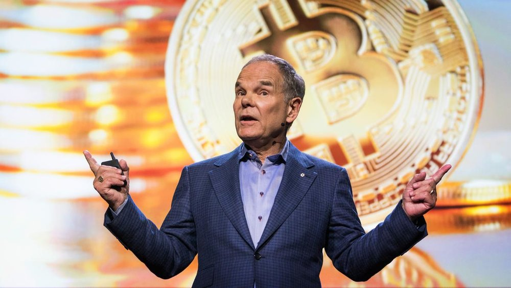 A still from Don Tapscott's blockchain TED talk.