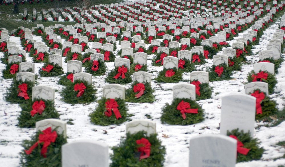 Wreaths Across America will lay thousands of wreaths on veteran's stones across the country today.