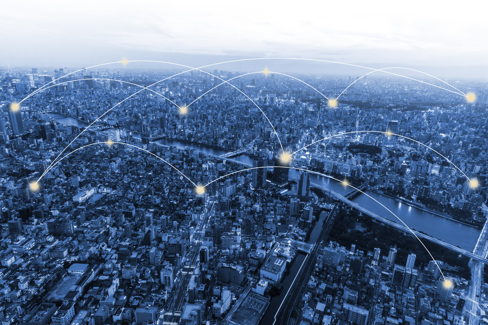 Moeco envisions a series of blockchain-enabled routers in cities, allowing the owners of the routers to collect fees for allowing the public to use them. ( Photo: Shutterstock )