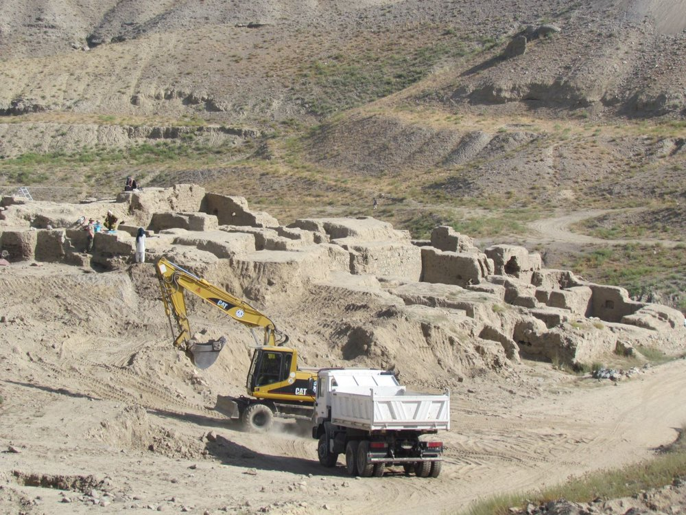 Archeological excavation underway at Mes Aynak. ( Photo: Afghan government )