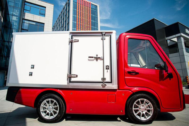 Tropos Technologies small electric truck is being targeted at last-mile delivery among other applications.