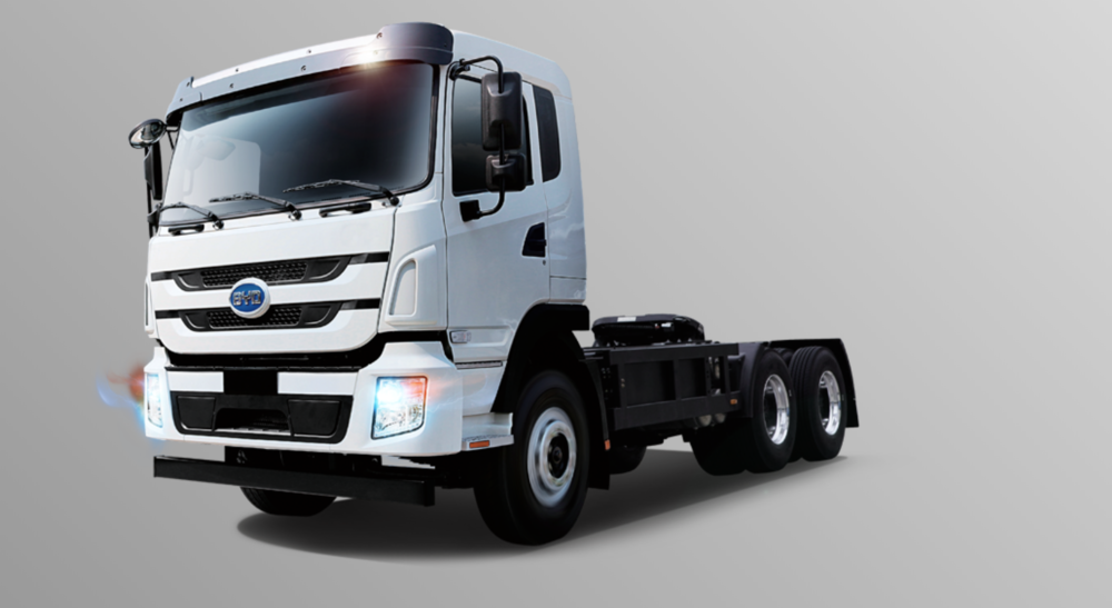 Chinese automaker BYD's T9, an all-electric Class 8 truck.