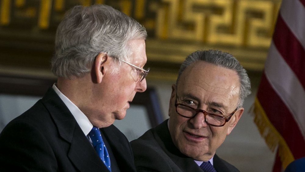 The failure of Sen. McConnell (R-KY) and Sen. Schumer (D-NY) to strike a budget deal caused parts of the federal government to shut down.