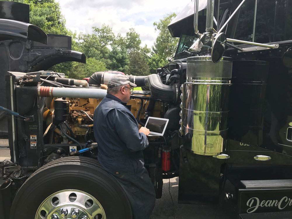 Dean croke owns a 379 peterbilt and is a former commercial driver that has built a career out of interpreting data and personal experience as a truck driver