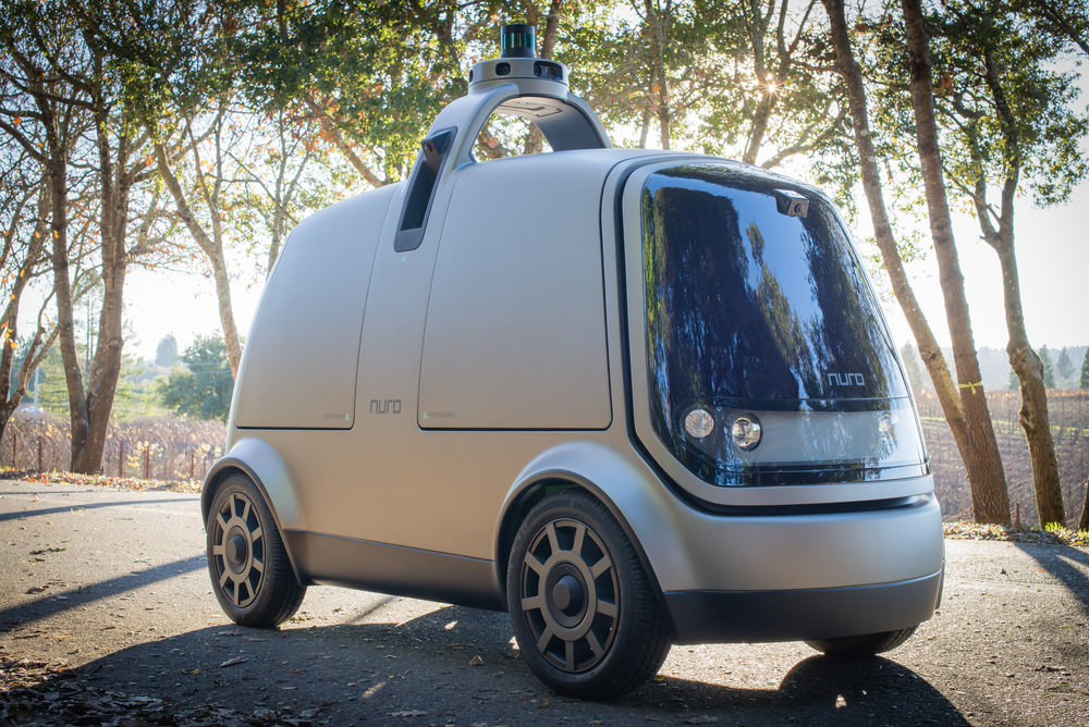 Is this the new face of last-mile delivery? And if it's autonomous, what's with the window? (Photo: Nuro)