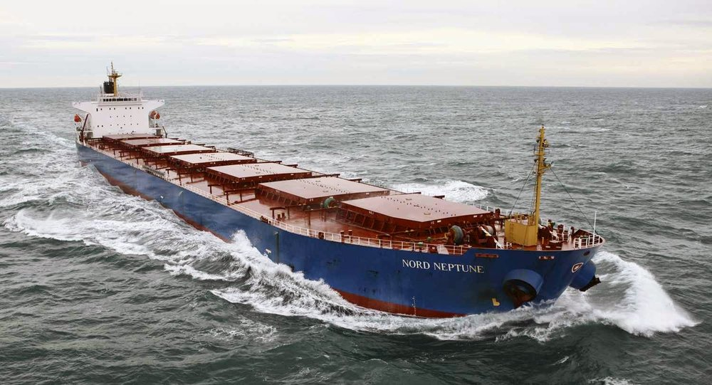 Pictured is the Panamax bulk vessel Nord Neptune, built in 2006, with a capacity of 76K deadweight tons.