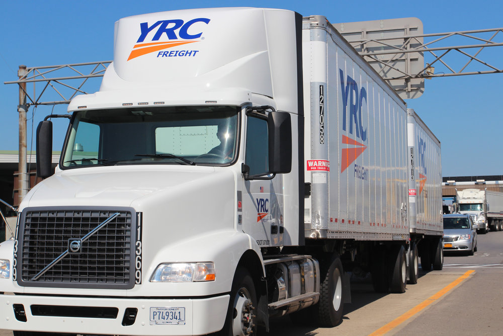Transportation stocks fell across the sector along with the broader Dow Jones Index on Monday.