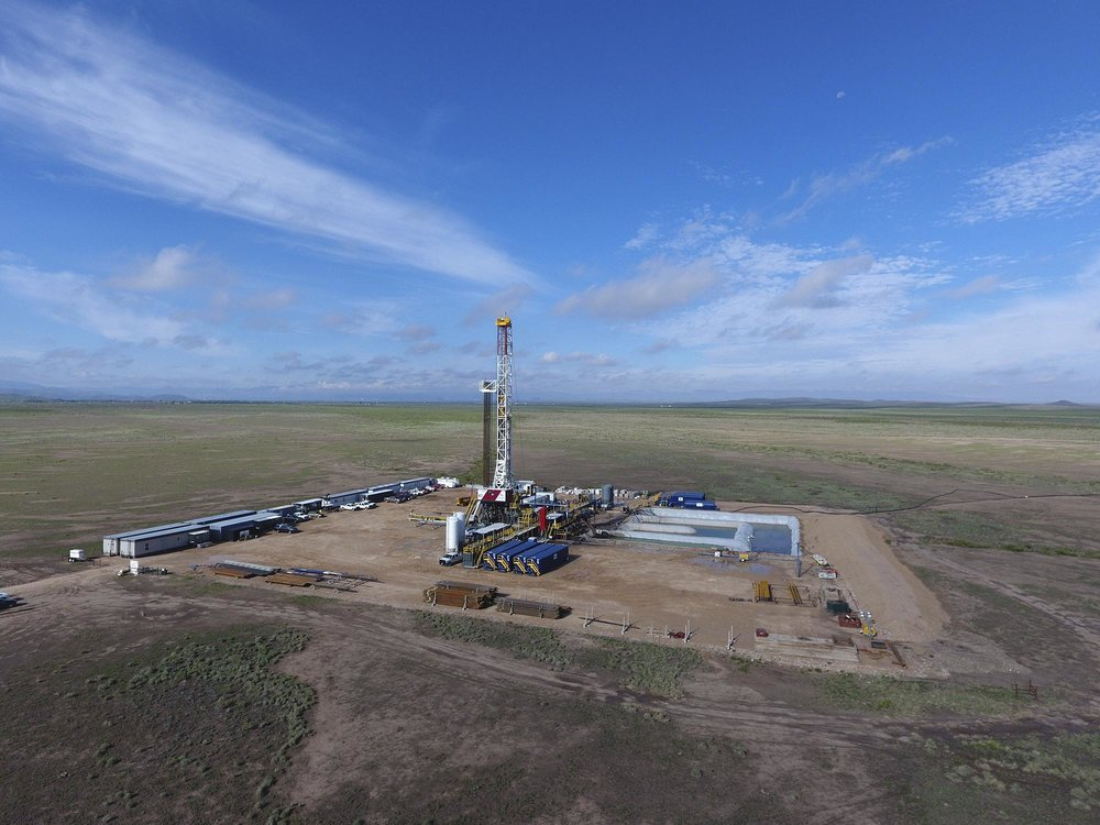 A fracking rig on the Permian Basin in West Texas.