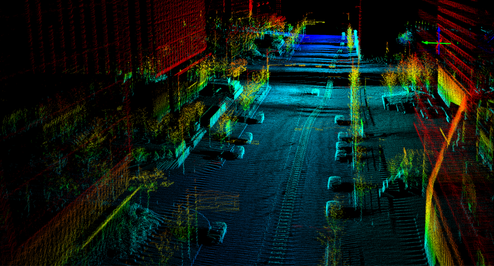 3D Point Cloud data generated by a Quanergy LiDAR sensor. ( Image: Quanergy )
