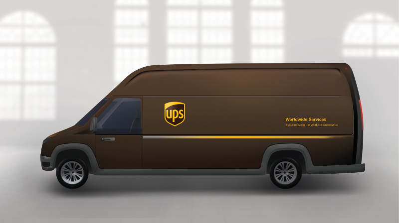 An artist rendering of the new Workhorse plug-in electric vehicle that UPS will deploy this year for testing.