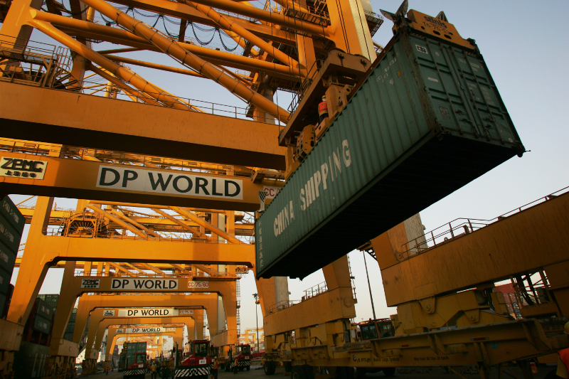 Dubai Ports World will build new inland ports in two Indian states to handle increased container traffic coming into that nation's ports.