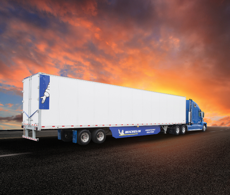 Michelin's Energy Guard trailer aerodynamic package provides a 7.4% fuel efficiency improvement with no driver input needed.