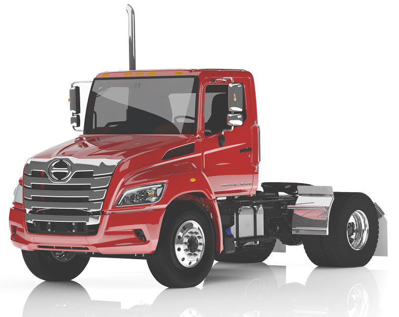Hino's XL Series truck can be configured as either a Class 7 or Class 8 vehicle with single or tandem axles. It has a GCWR of 66,000 lbs.