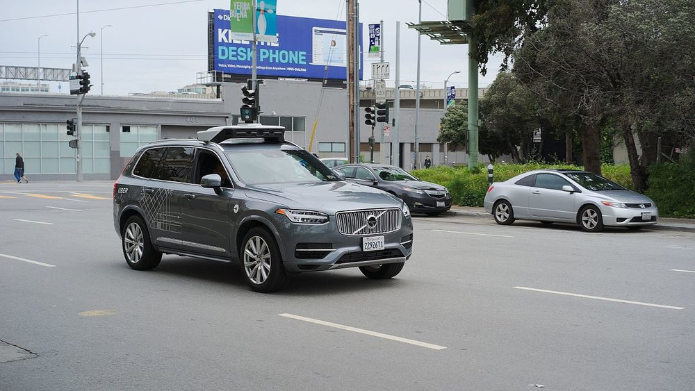 An Uber self-driving Volvo XC-90 in San Francisco. ( Photo: Wikimedia Commons )