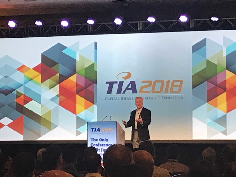 Mick Ukleja speaks at the TIA 2018 conference on leveraging generational diversity in the workplace.
