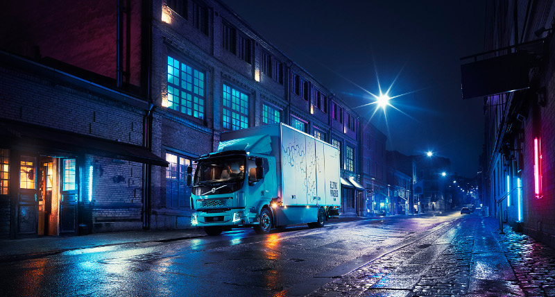 Volvo's FL Electric truck has a range of about 186 miles. .