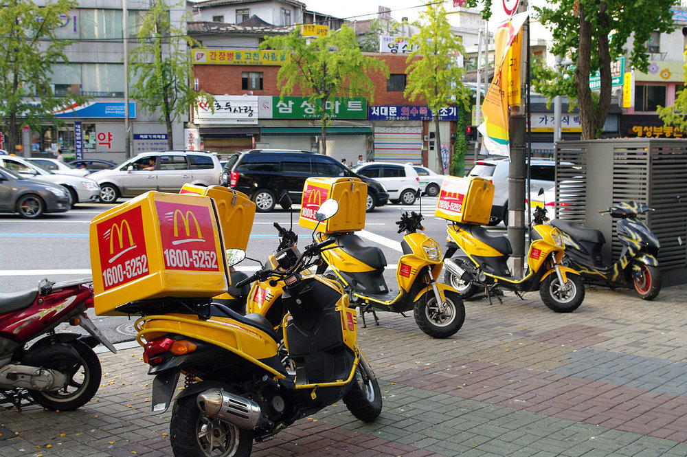 A McDonald's delivery fleet in Seoul, South Korea. ( Photo: Wikimedia Commons )