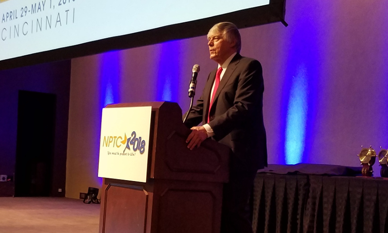 NPTC president & CEO Gary Petty speaks during the welcoming address to the association's annual conference.