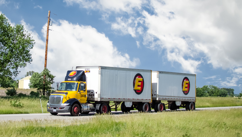 Trucking interests, led by LTL carriers, have been pushing legislation that would allow 33-foot double trailers on American roadways. Opponents are ramping up efforts to stop it. ( Photo:  TruckStockImages.com  )