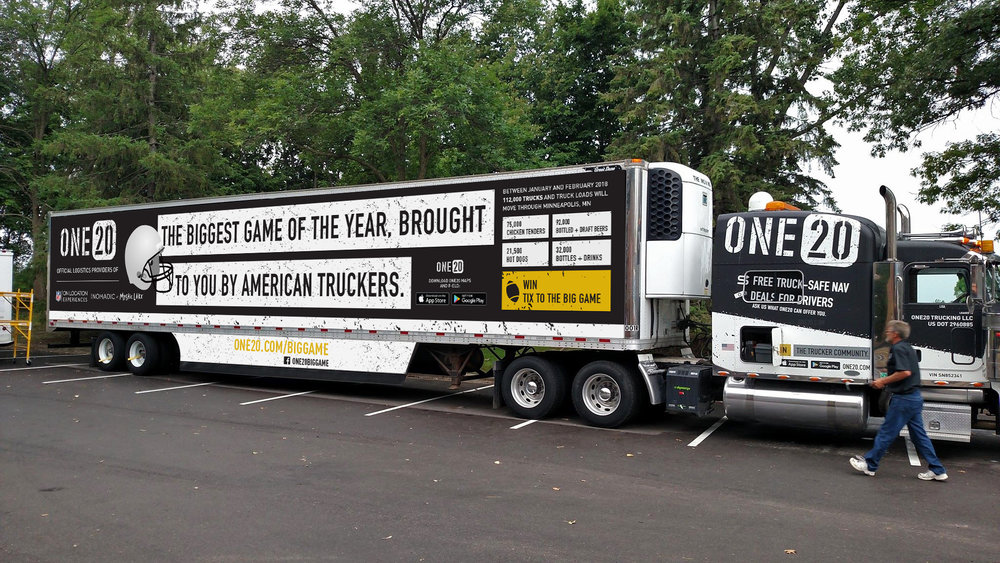 One20 brought 3 truck drivers to the Super Bowl in February. The company announced it would be shutting down its ELD service.