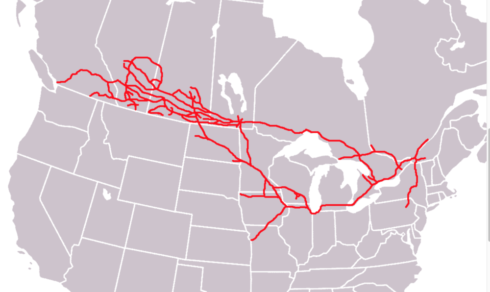 Canadian Pacific's network. ( Image: Wikipedia )