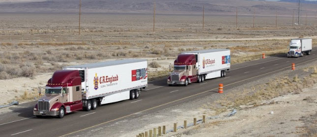Vehicle platoons can provide fuel savings and safety benefits, but they are only legal in 17 states currently.