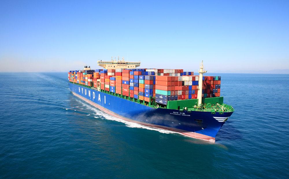 The Hyundai Dream, a 13,100 TEU vessel, is pictured. ( Photo: HMM )