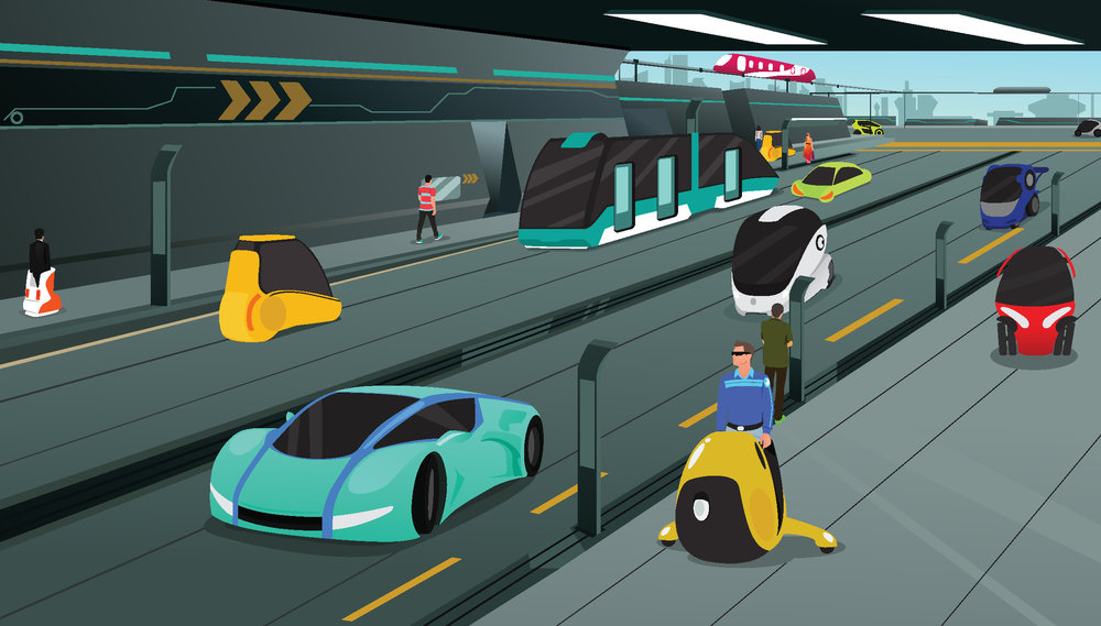 More mobility options in the cities of the future will cut down on congestion, making it easier for people and goods to move to their destinations. ( Photo: Shutterstock )