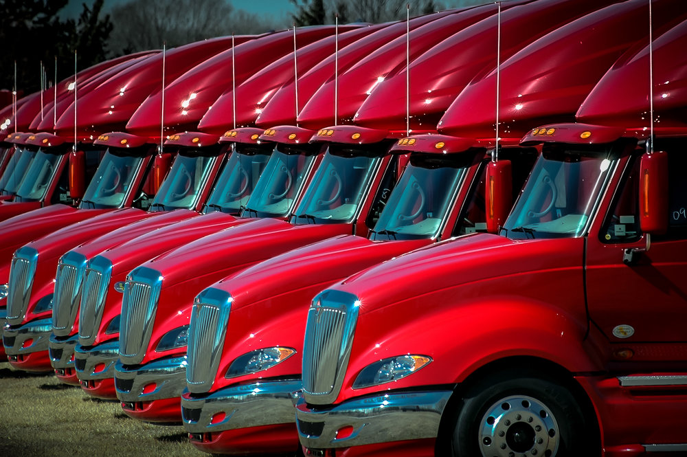 A row of Navistar Internationals. ( Photo: truckstockimages.com )