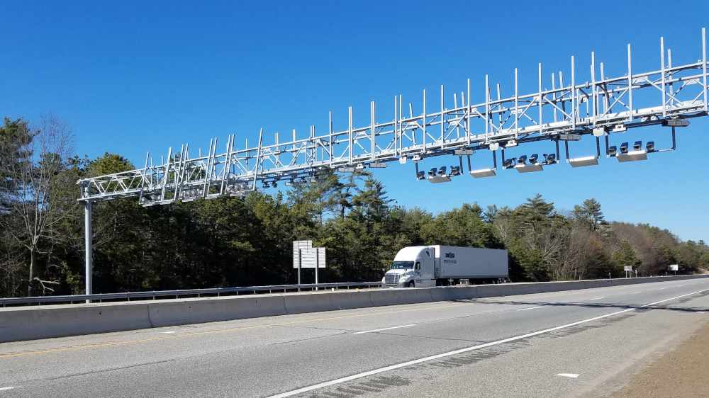 One of Rhode Island's truck toll gantries along I-95  (Image: Brian Straight)