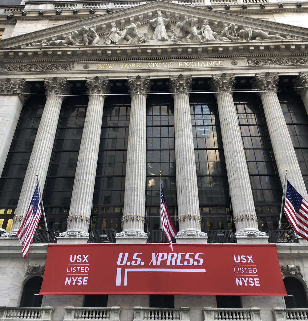 The New York Stock Exchange on the morning of June 14, 2018. ( Photo: FreightWaves )
