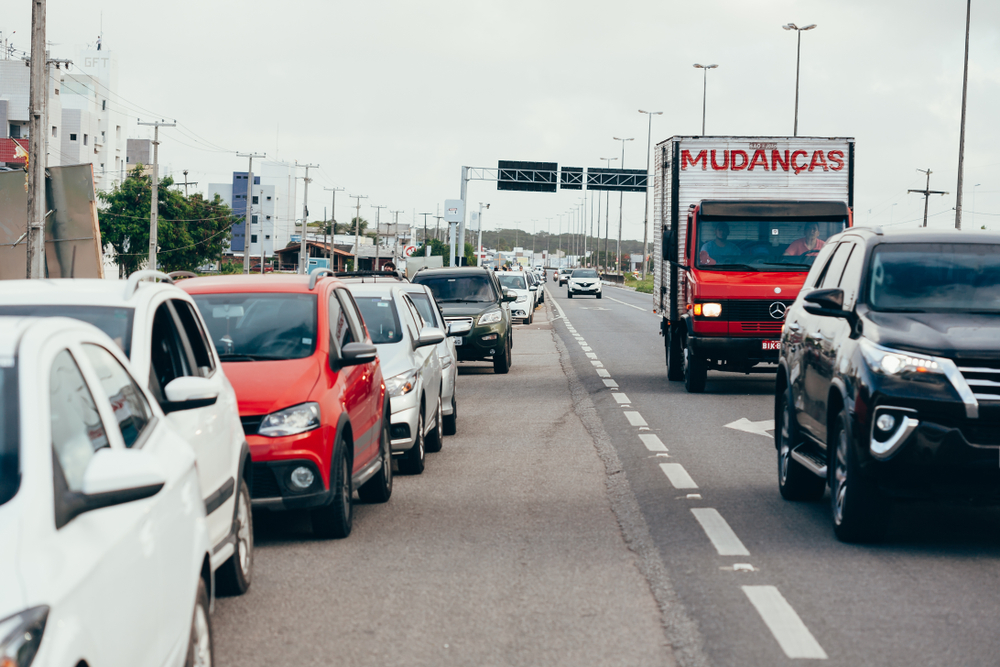 Traffic caused by Brazil's recent truck strike.  (Image: Shutterstock)