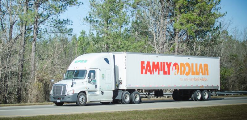 Epes Transport Systems handles several dedicated accounts, including Family Dollar. ( Photo: Truckstockimages.com )