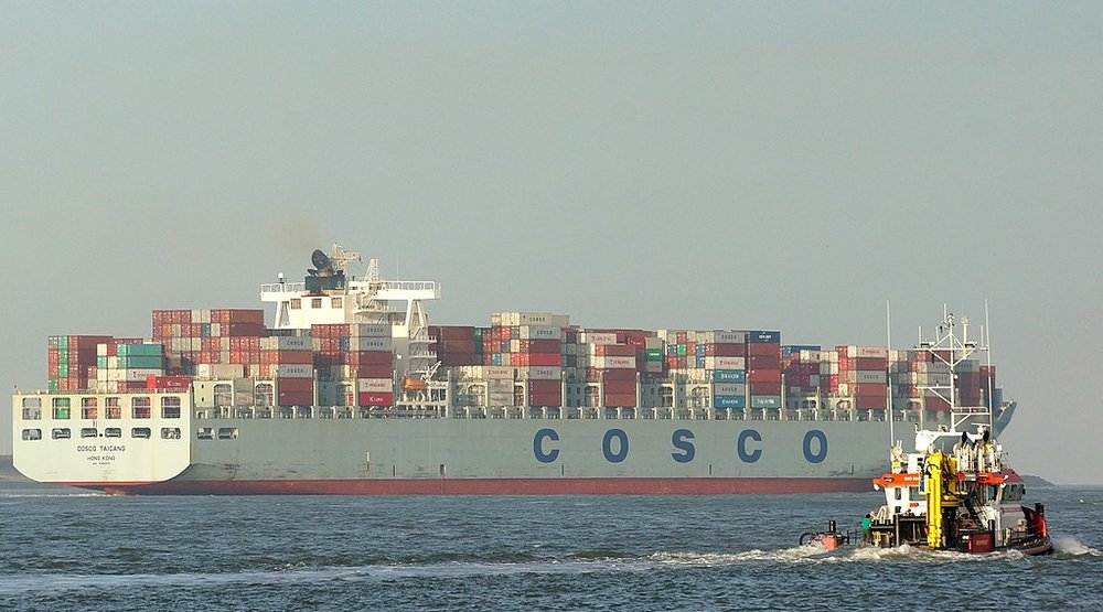 The COSCO Taicang in 2015. ( Photo: Wikimedia Commons )