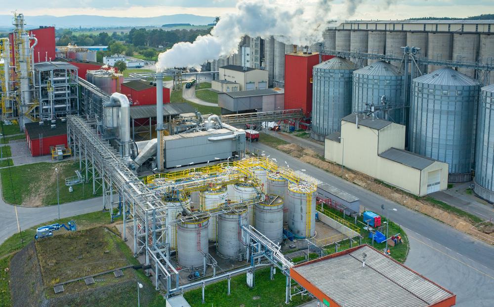 Aerial view of a biofuel factory.  (Photo: Shutterstock)