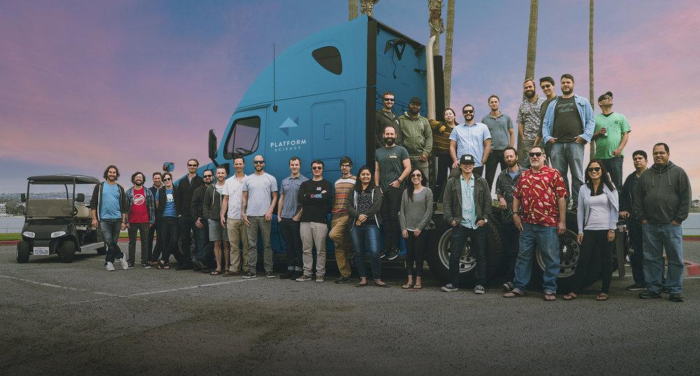 The Platform Science team based in San Diego.  (Photo: Platform Science)