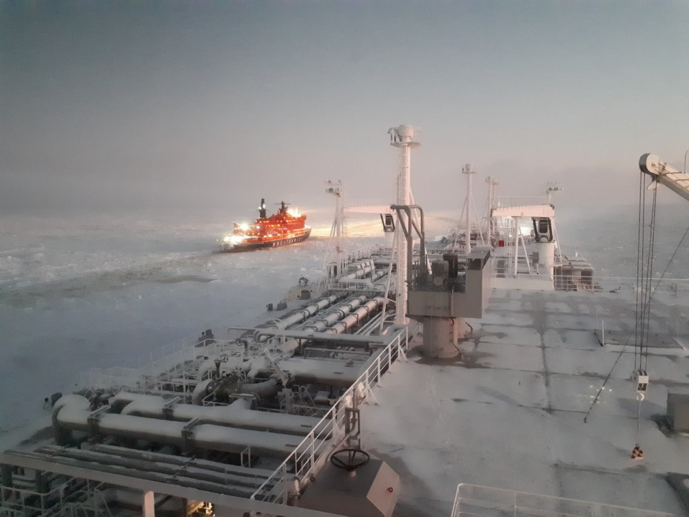 A view from the Eduard Toll as it traverses the Northern Sea Route. ( Photo: Teekay )