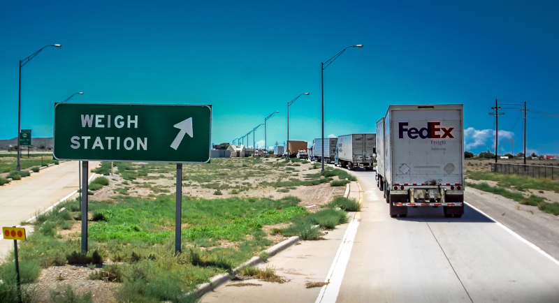 Long lines at weigh stations can delay drivers, but those that use bypass systems can skip these waits in many instances. ( Photo: Truckstockimages.com )