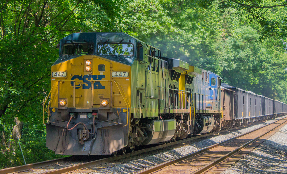 CSX train as it passes Garrett Park, Maryland, on June 1, 2018. ( Photo: Shutterstock )