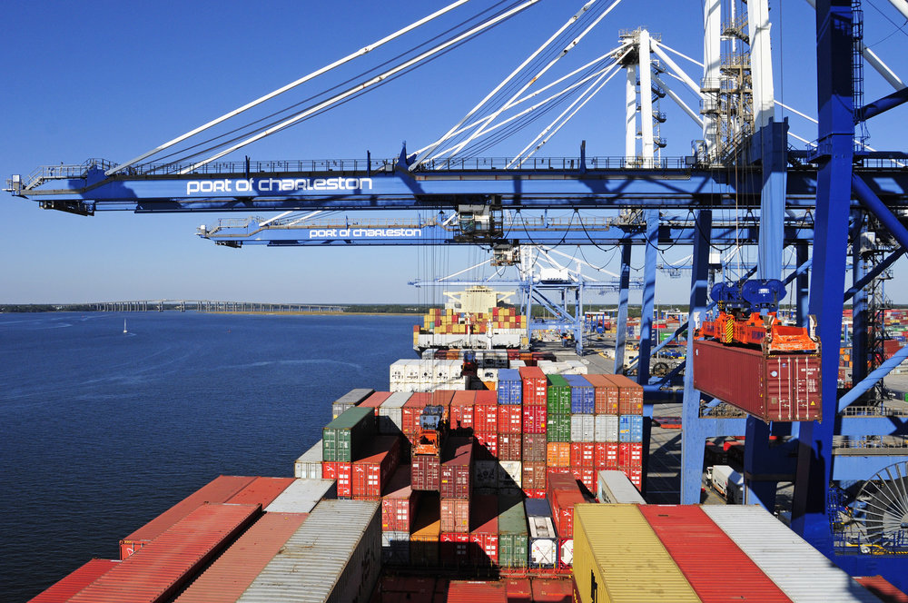 The Port of Charleston is the latest to report double-digit percent growth in container imports (Photo: South Carolina Ports)