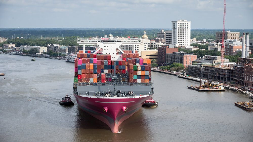 The Ocean Network Express Stork makes call on the Port of Savannah. ( Photo: GPA )